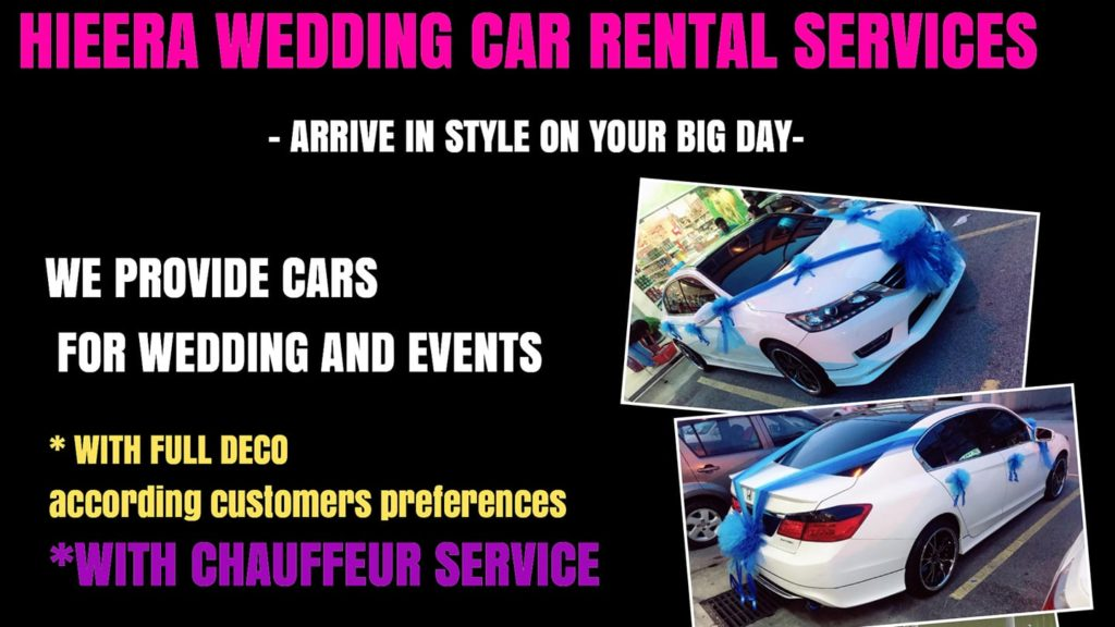Hieera Wedding Car Rental Services